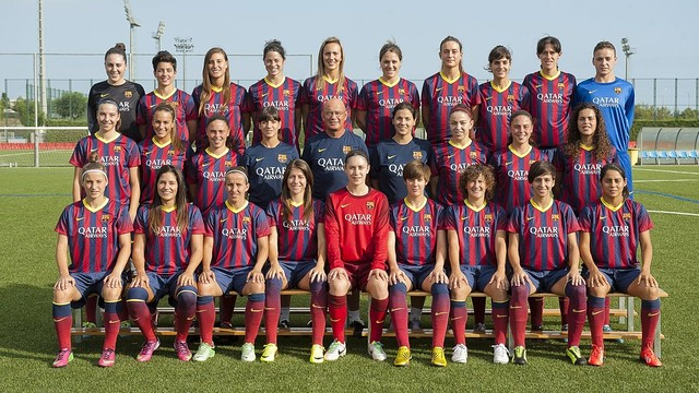 Fc barcelona women 39 s team 2013 14 photo v ctor salgado fcb - Forlady barcelona ...