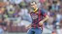 Mascherano in the match against Levante / PHOTO: VÍCTOR SALGADO - FCB