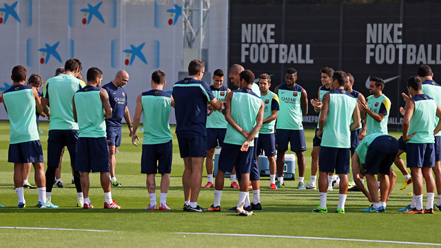 The players trained for the last time on Saturday ahead of the trip to Valencia / PHOTO: MIGUEL RUIZ - FCB