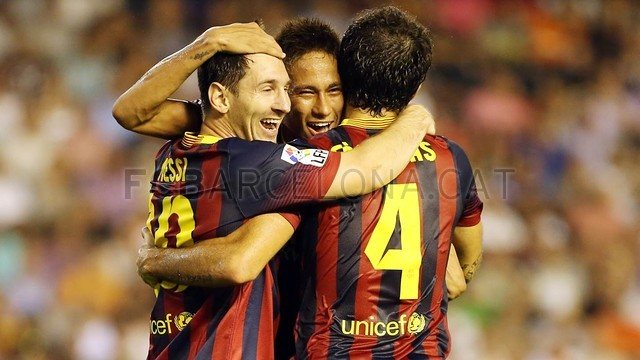 تصاویر بازی بارسلونا 3-2 والنسیا - رفت لالیگا