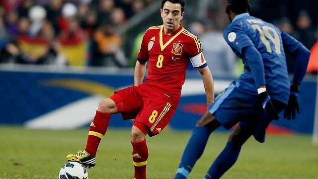 Xavi Hernández in a match for Spain / PHOTO: www.sefutbol.com