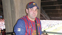 Dominique Lionel explained his first trip to the Camp Nou for the Revista Barça / Photo: Arxiu FCB