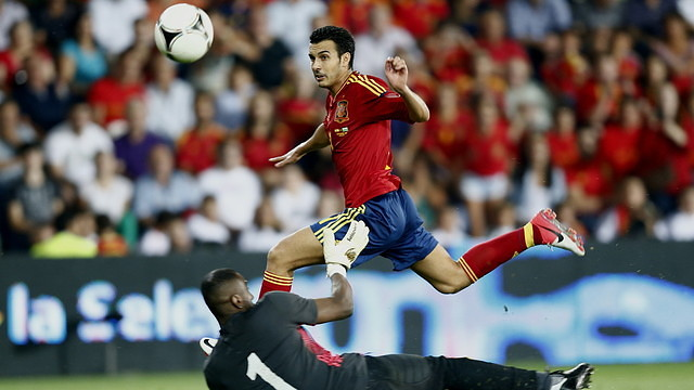 Pedro is one of six Barça players in the Spanish squad / PHOTO: CARMELO RUBIO - RFEF