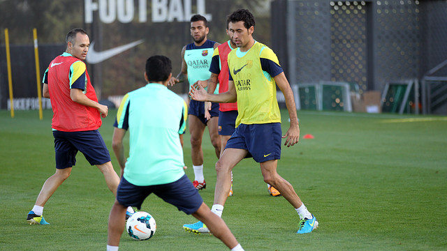 Sergio Busquets is the main absentee from the squad / PHOTO: MIGUEL RUIZ-FCB