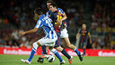 Barça and Real Sociedad playing last season. PHOTO: MIGUEL RUIZ-FCB.