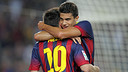 Bartra and Messi / PHOTO: MIGUEL RUIZ - FCB