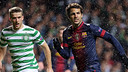 Cesc, during last season's game at Celtic Park / PHOTO: MIGUEL RUIZ-FCB