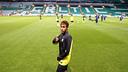 Neymar in Celtic Park. PHOTO: MIGUEL RUIZ-FCB.