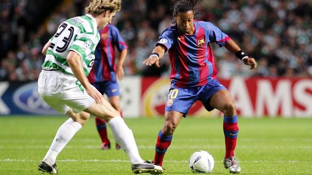 Ronaldinho, at Celtic Park / PHOTO: MIGUEL RUIZ-FCB