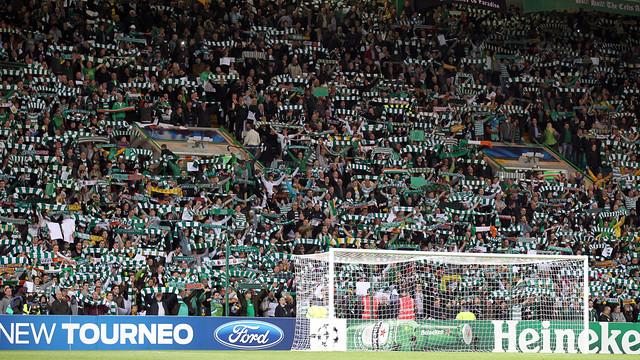 Imatge del Celtic Park en el partit de Champions contra el Barça / FOTO: MIGUEL RUIZ - FCB