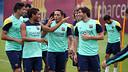 Friday morning training. PHOTO: MIGUEL RUIZ-FCB.