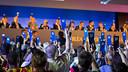 Un moment de la votació durant l'Assemblea / FOTO: GERMÁN PARGA - FCB