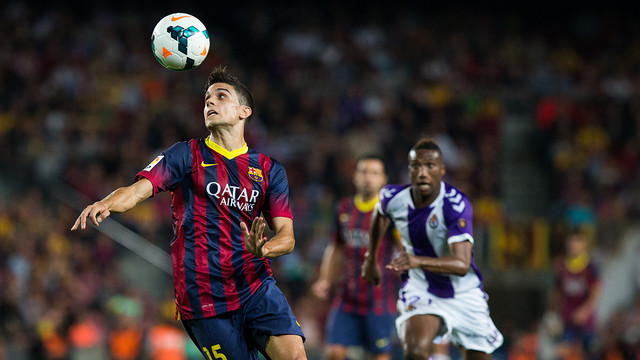 Bartra in action during the game. PHOTO: G. PARGA- FCB