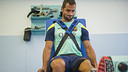 Montoya taking one of the fitness tests / PHOTO: VÍCTOR SALGADO-FCB