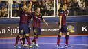 Jordi Torras celebrating his goal / PHOTO: VÍCTOR SALGADO-FCB