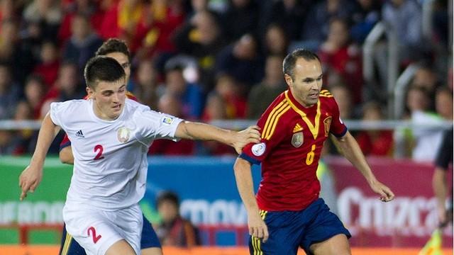 Iniesta, en el último partido con España. FOTO: fifa.com