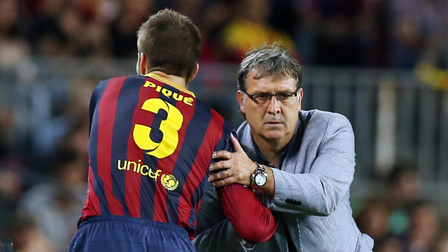 Martino has rested Piqué for the trip to Pamplona / PHOTO: MIGUEL RUIZ-FCB