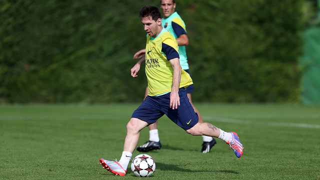 Messi during this Sunday's training session / PHOTO: MIGUEL RUIZ-FCB