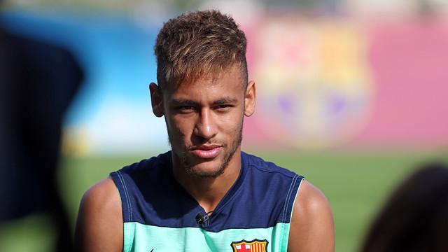 Neymar Jr, durant l'entrevista / FOTO: MIGUEL RUIZ-FCB
