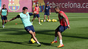 Tello and Alves amongst the 19 called up for the Celta game / PHOTO: MIGUEL RUIZ-FCB