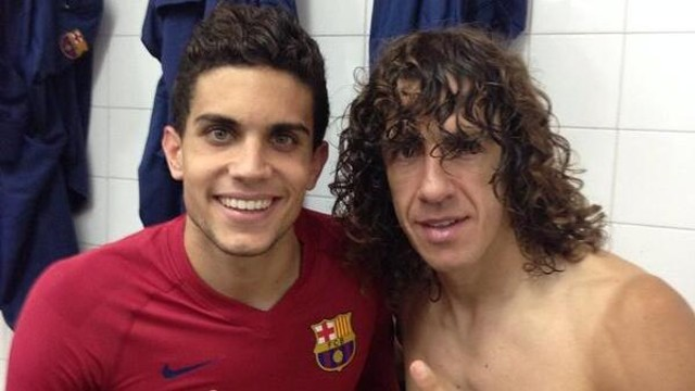 Marc Bartra and Carles Puyol / PHOTO: @MarcBartra91