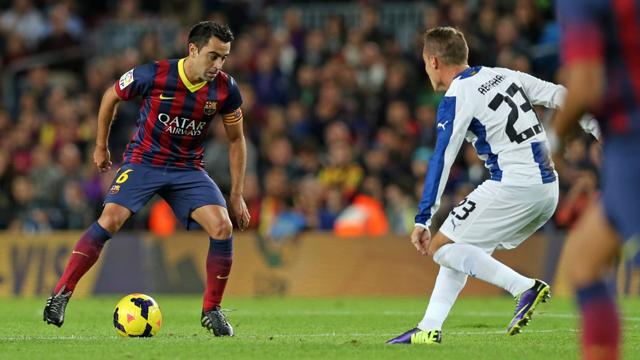 Xavi against Real Sociedad