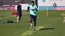 Neymar, durant l'entrenament / FOTO: MIGUEL RUIZ - FCB