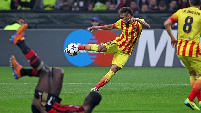 Neymar Junior at San Siro / PHOTO: MIGUEL RUIZ - FCB