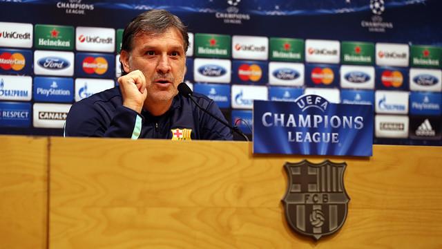 Tata Martino ha atendido a la prensa antes de recibir el miércoles el Milan / FOTO: MIGUEL RUIZ — FCB