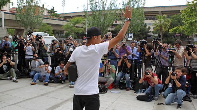 Neymar Jr on the day of his presentation at FC Barcelona / PHOTO: MIGUEL RUIZ-FCB