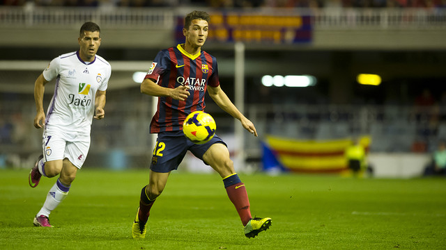 Barça B lost at home to Jaén / PHOTO: VÍCTOR SALGADO-FCB