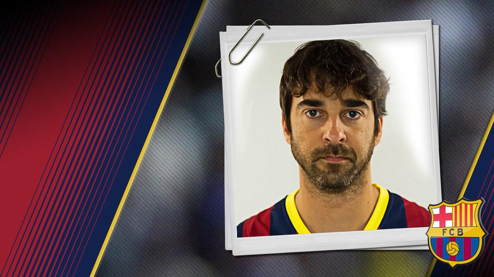 Imatge oficial de Navarro amb la samarreta del FC Barcelona