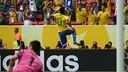 Neymar celebrates his goal against Japan / PHOTO: FIFA.COM