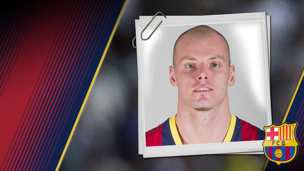 Imatge oficial de Lampe amb la samarreta del FC Barcelona