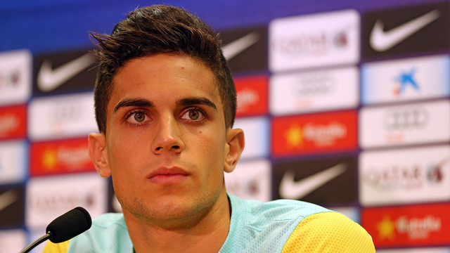 Bartra during a press conference