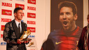 Messi, with the 2012/13 Golden Boot. PHOTO: MIGUEL RUIZ-FCB.