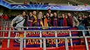 Members of the Penya Blaugrana d'Amsterdam. PHOTO: Rubén Saavedra