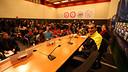 José Manuel Pinto, protagonista de la roda de premsa del Barça a l'Amsterdam Arena / FOTO: MIGUEL RUIZ - FCB