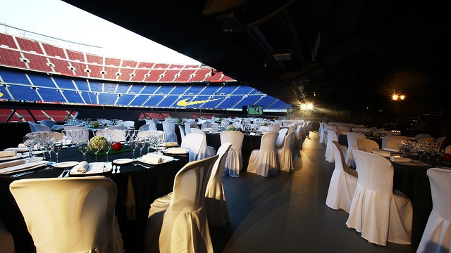 Banquet dinner at Platea Camp Nou