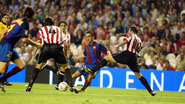 Marc Overmars at San Mamés (2003/04 season). PHOTO: MIGUEL RUIZ-FCB.