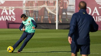 Alexis Sanchez at Training session