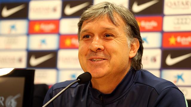 Gerardo Martino, a la roda de premsa / FOTO: MIGUEL RUIZ-FCB.