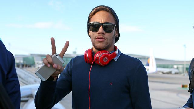 Neymar on the way to Bilbao. PHOTO: MIGUEL RUIZ - FCB