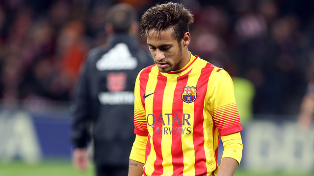 Neymar downbeat after the defeat / PHOTO: MIGUEL RUIZ-FCB