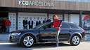 Carles Puyol receiving his Audi / PHOTO: MIGUEL RUIZ - FCB