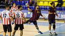 Sarmiento scoring on Tuesday / PHOTO: GERMÁN PARGA-FCB