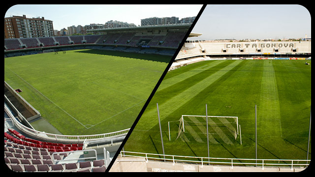 Compared images of the Miniestadi and the Cartagonova