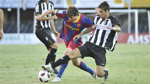 Sergi Roberto in action against Cartagena