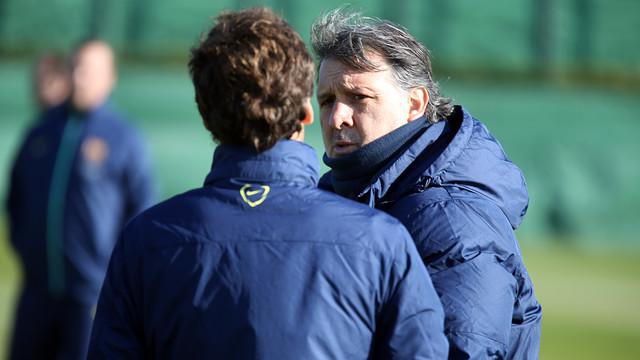 Gerardo Martino, at this Thursday's training session / PHOTO: MIGUEL RUIZ-FCB