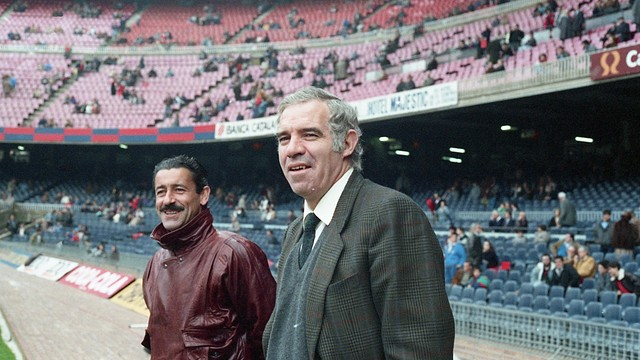 Luis Aragonés at the Camp Nou / PHOTO: FCB ARCHIVE